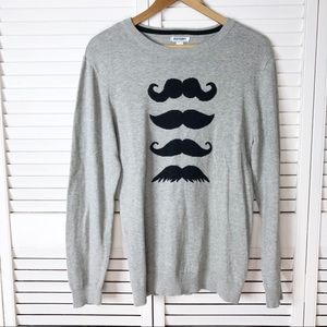 Old Navy mustache sweater
